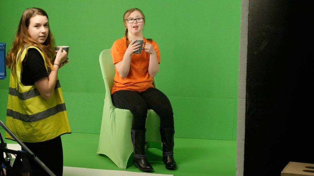 LoveLove Production Coordinator Shannon on the set of TV Advert Cycling UK