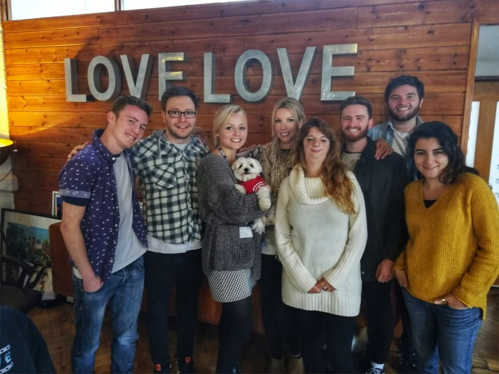 The LoveLove Films team with BBC Radio Solent reporter Robyn Montague