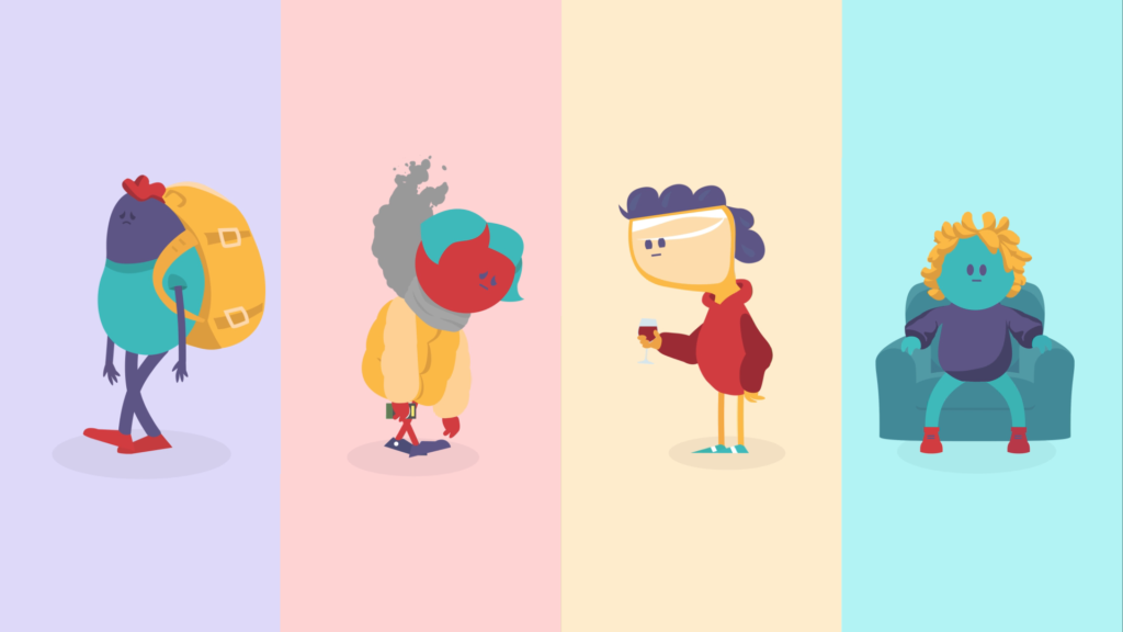 Our character creations for LiveWell Dorset's project