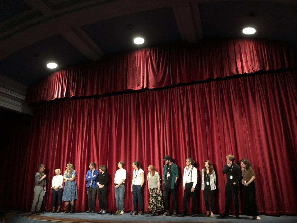 LoveLove's Production Coordinator Shannon Reeve discussing Chin Up at Edinburgh Film Festival
